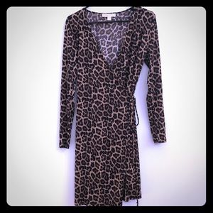 MICHAEL Michael Kor's leopard-print wrap dress.